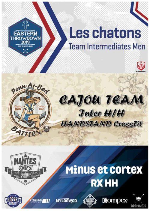 Exemple pancarte compétition de CrossFit® via MYLOGWOD exemple 2